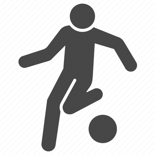 action, dribbble, dribbling, football, player, soccer icon