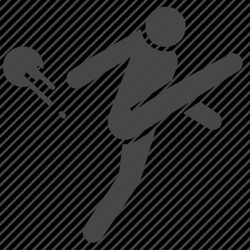 action, football, kick, player, salvo, shoot, soccer icon