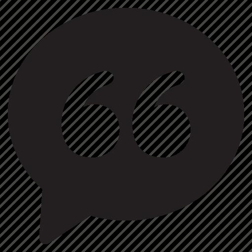 bubble, chat, communication, conversation, message, quote, talk icon