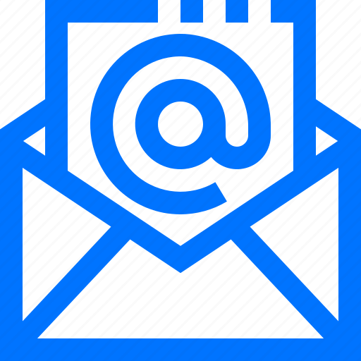 at, communication, email, open, sign, social icon