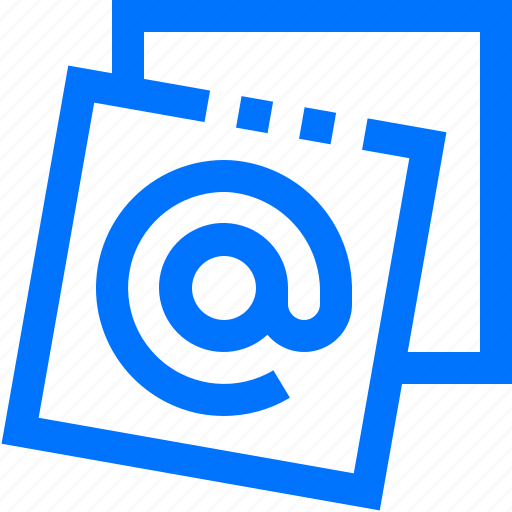 at, communication, email, sign, social icon