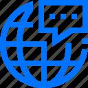 chat, communication, global, globe, social, talk, worldwide icon