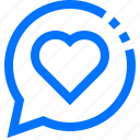 chat, communication, favorite, heart, like, message, social icon