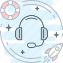 call, center, customer, headphones, help, service, support icon