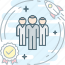 dream, fast, group, hr, quality, team, users icon