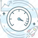 fast, grow chart, max, optimization, seo, speedometer icon