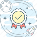 badge, fast, max, optimization, quality icon