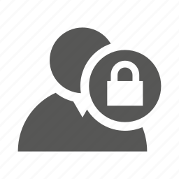 block, lock, profile, protection, secure, user icon