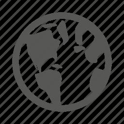 earth, globe, location, map, travel, world icon