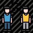 social, distancing, man, person, distance icon