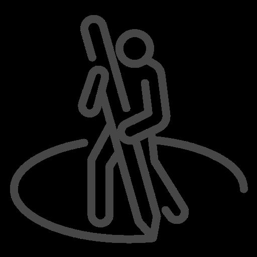 area, coronavirus, personal, social distancing, space icon