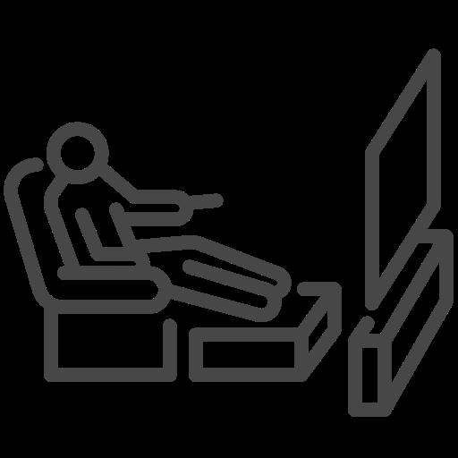 coronavirus, self quarantine, social distancing, tv, watching icon