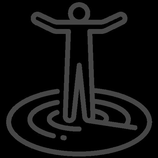 coronavirus, radius, social distancing icon