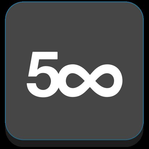 500px, marketplace, photography icon