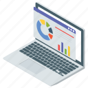 data analytics, graphical presentation, marketing analysis, online analysis, statistics icon