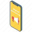 advertising, announcement, digital marketing, marketing, mobile marketing icon