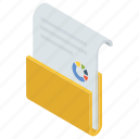 archive, document, file, folder, marketing report icon