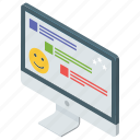 comment, communication, conversation, messaging, online chat icon