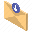 correspondence, email, letter, mail download, message icon