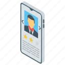 candidate ranking, feedback, performance, progress, ranking, rating, review icon
