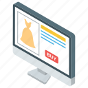 buy online, ecommerce, internet shopping, online purchasing, online shopping icon