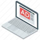 ad, ad network, advertisement, promotion, publicity, web ad icon