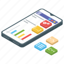 data analytics, infographic, marketing analysis, online analysis, statistics icon