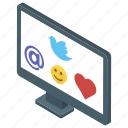 social forum, social marketing, social media, social network, social platform icon
