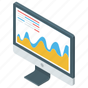 data analytics, diagram, marketing analysis, mountain chart, statistics icon