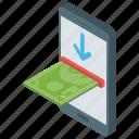 digital deposit, ebanking, mobile deposit, online banking, online deposit icon