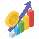 bar chart, business growth, financial chart, marketing growth, statistics icon