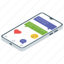 comment, communication, conversation, messaging, mobile chat icon