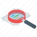 analysis, exploration, investigation, research, testing icon