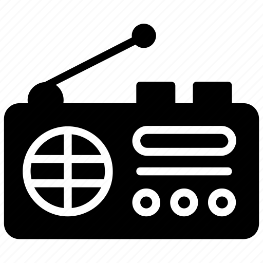 music radio, news radio, output device, radio, radiotelegraph icon