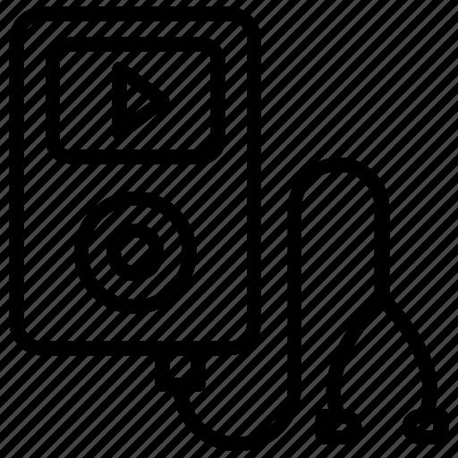 boombox, ipod, mp3 player, music player, walkman icon
