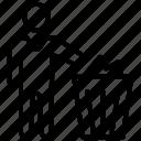 dustbin, garbage bin, trash barrel, trash bin, trash can icon