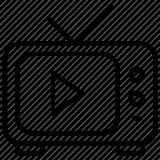 electronic media, idiot box, output device, television, tv icon