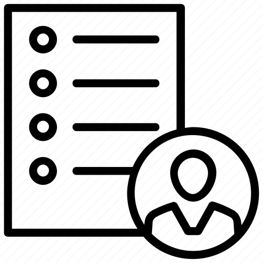 client list, contact list, customer list, family, friends list icon