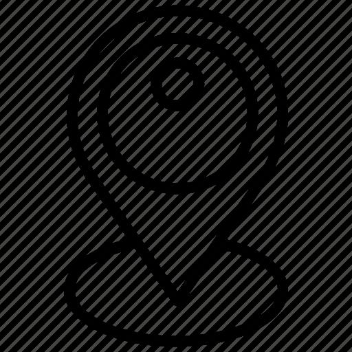 location pin, map pin, map pointer, navigation, pin pointer icon