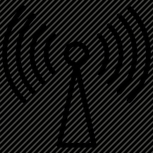 antenna, internet connection, internet signals, network, wifi signals icon