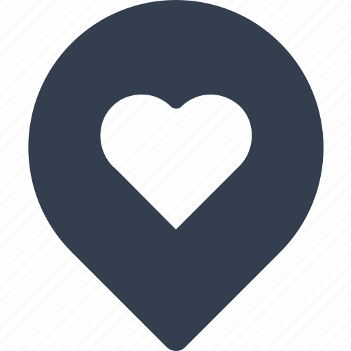 communication, direction, gps, heart, love, media, pin, place, social icon