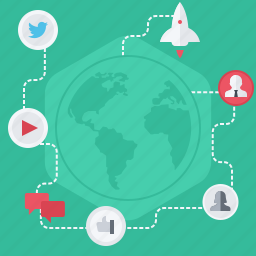 communications, community, connect, connection, global, network, social icon