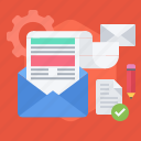 distribution, email, envelope, letter, marketing, newsletter icon