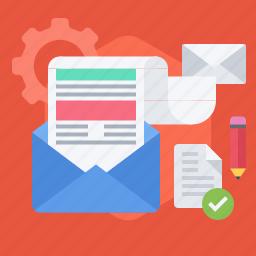 distribution, email, envelope, letter, marketing, newsletter icon