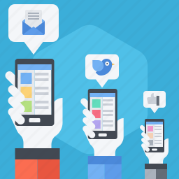 impact, media, platform, reach, share, social, tweet icon