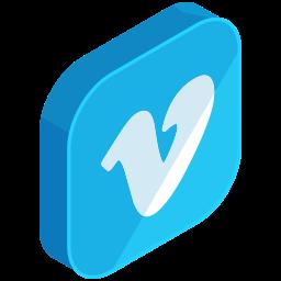 communication, internet, media, network, social, vimeo icon