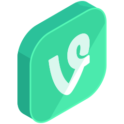 media, network, social, v, vine icon