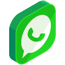 chat, communication, media, network, social, whatsapp icon