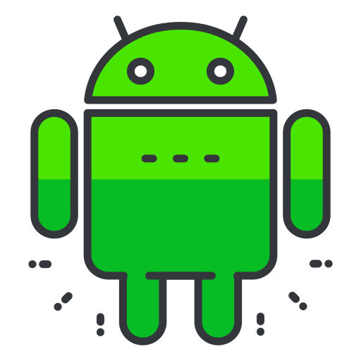android, media, network, smartphone, social, software icon