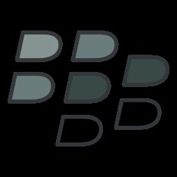 blackberry, media, network, smartphone, social, software icon